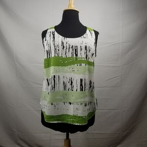Green and Black Tank